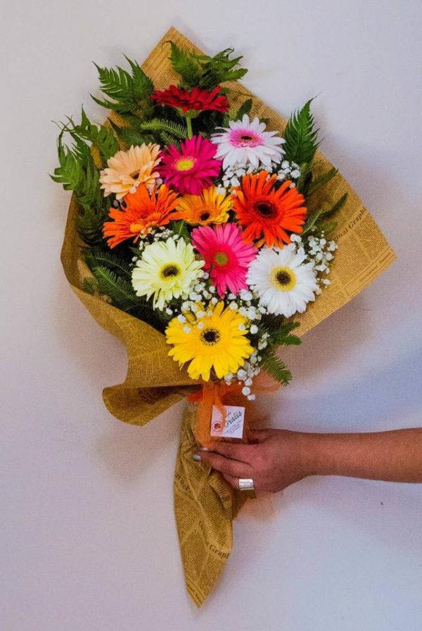 Bouquet con gerberas